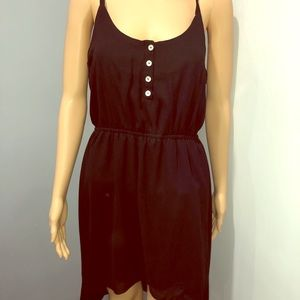 M black hi low dress